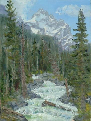 Cascade Creek and Mt Owen 16x12 vertical  ***SOLD*** - Copyright by Matt and Judy Montagne
