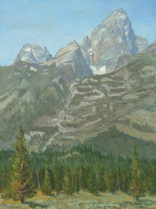 """Glacier Gulch and Grand Teton"" 16x12  ***SOLD*** - Copyright by Matt and Judy Montagne"