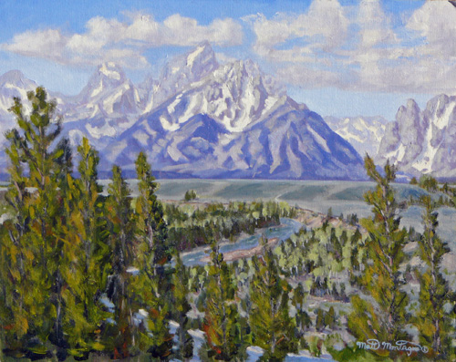 """Snake River Overlook"" 16x20     ***SOLD*** - Copyright by Matt and Judy Montagne"