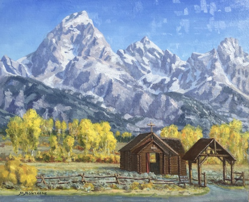 Teton Cathedrals   24x30   SOLD - Copyright by Matt and Judy Montagne