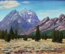 Cathedral View of Tetons From Mountain View Turnout ***SOLD***