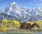 Teton Cathedrals   24x30   SOLD